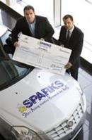 Cadillac BLS launch tour raises £10,000 for SPARKS