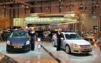 Cadillac and Corvette at the British International Motor Show