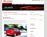 Kia launches global blog
