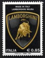 Lamborghini stamp issued by the Italian Post Office