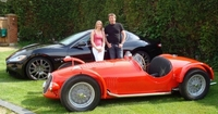 Sarah Bennett-Baggs and James Martin with his Maserati A6GCS and a GranTurismo