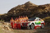 Four all-new Racing Lancers enter Dakar 2009