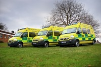 Movano front-line with West Midlands Ambulance Service