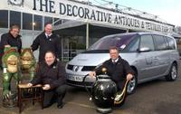 Renault chauffeurs with their VIP passengers at the Decorative Antiques & Textiles Fair