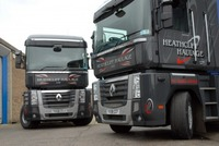 New Renault Magnums on the road with Heathcliff Haulage
