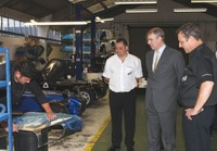 HRH The Duke of York visits Caterham Cars