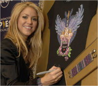 Shakira designs special t-shirt for Hard Rock collaboration
