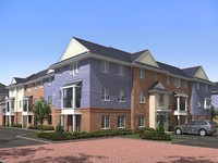An artist's impression of the 'Hamptons' apartments at Sandringham.