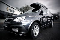 Vauxhall Antara official support vehicle for Parkour to Paris Challenge