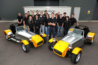 Weybridge students complete build of Caterham cars