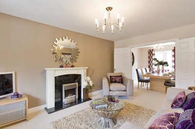 Persimmon homes in on success in hellingly easier for Show home living room ideas