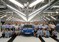 100,000th Volkswagen Scirocco leaves the production line