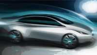 Infiniti releases sketch of luxury electric vehicle