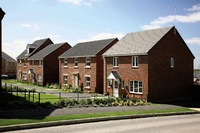 A street scene of homes from Redrow @ The Grange
