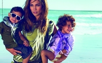 Jennifer Lopez with her twins in new Gucci ad campaign