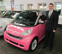Limited smart fortwo pink passion up for auction