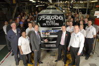 It's viva Vivaro as Vauxhall's Luton plant hits 750,000 milestone