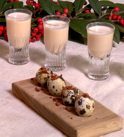 Mark Hix's Eggnog and Quail Egg Shooters