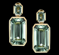 Green Beryl Tablet Earrings from Robert Procop Exceptional Jewels