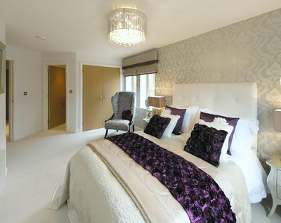 The bedroom in the show home  Easier. Show Home Bedrooms