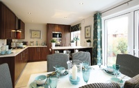 An example of a Redrow show home kitchen, similar to that seen at Wheatley Chase.