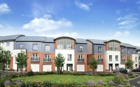 An artist's impression of the 'Crystal' townhouse at 'The Springs' in Watford.