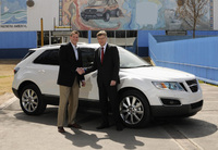 First Saab 9-4X rolls off production line