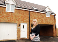 Diane Dickson stepped onto the property ladder at Long Meadow Walk, Little Stanion.