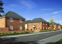 An artist's impression of the homes being built at Sycamore Park