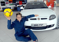 MG TF scores with international soccer star