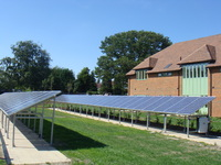 The photo voltaic panels at Mayford Grange are just one aspect of its eco credentials.