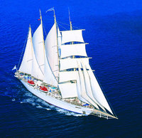 Free flights on high season tall ship cruises