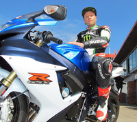 Keith Flint puts new GSX-R750 through its paces