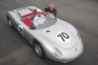 Le Mans to see Stirling's first race in his own Porsche RS 61