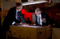 Explore the Operations Room on HMS Belfast