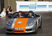 An electric performance from Porsche with the Boxster E