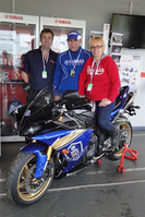 Yamaha celebrate 50, winner collects prize at Silverstone