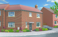 CGI of the family homes available at Lightmoor Green in Telford.