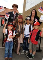 Captain Jack Sparrow meets 'pint sized pirates' in Wragby
