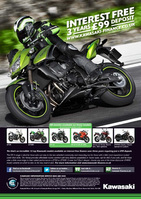 Kawasaki accelerates into summer with red hot finance offers