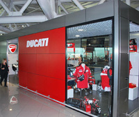Ducati takes off with new shop at Fiumicino Airport, Rome