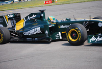 Caterham Cars enters Formula One with Team Lotus