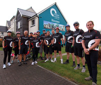 Charity cycle ride nets cash for Kids Out