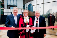 The Mayor of Islington unveiling Reflctions by Family Mosaic