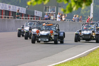 Caterham celebrates its 100th Castle Combe race