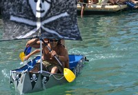 Sailors paddle for survival in Gibraltar's Cardboard Boat Race