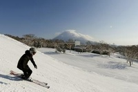 Skiing at Niseko Village, Japan