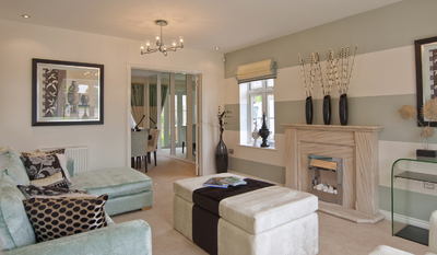 New taylor wimpey development set to be a roaring success for Show home living room designs