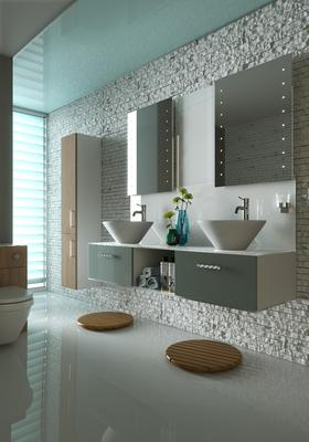 Get the natural look with wooden bathroom furniture
