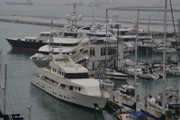 Superyacht stampede at Gibraltar's Ocean Village